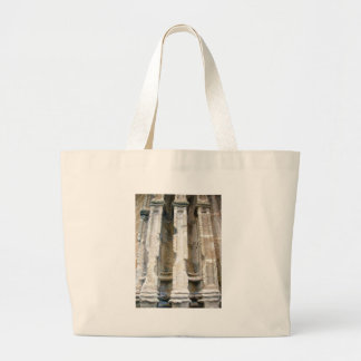 Battle Scarred Facade Large Tote Bag