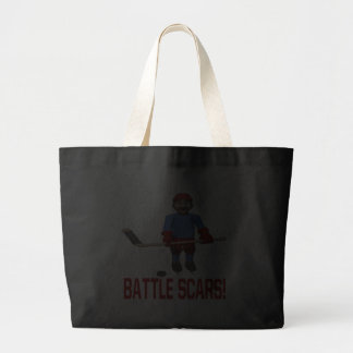 Battle Scars Tote Bags