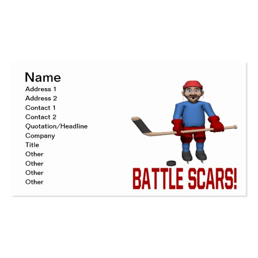 Battle Scars Business Card Templates