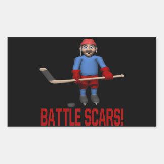 Battle Scars Rectangular Stickers