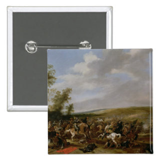 Battle Scene at Lutzen between King Gustavus Pinback Button