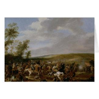 Battle Scene at Lutzen between King Gustavus Card