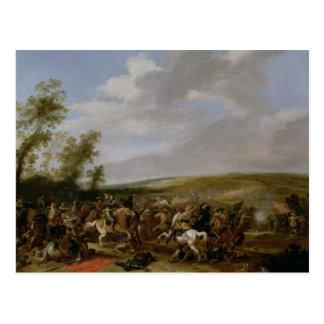 Battle Scene at Lutzen between King Gustavus Postcard