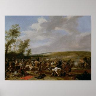 Battle Scene at Lutzen between King Gustavus Print