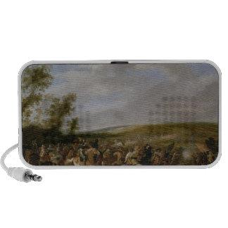 Battle Scene at Lutzen between King Gustavus iPod Speakers