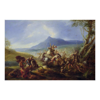 Battle Scene, before 1680 Poster
