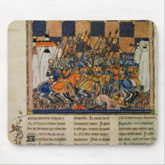 Battle scene, from the biography of Godefroi Mouse Pad