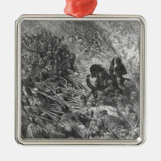 Battle scene, illustration from 'Orlando Furioso' Metal Ornament