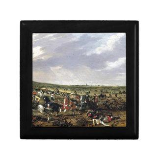 Battle scene in an open landscape jewelry box