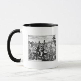Battle scene mug