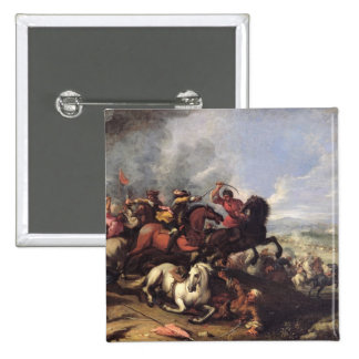 Battle Scene Pinback Button
