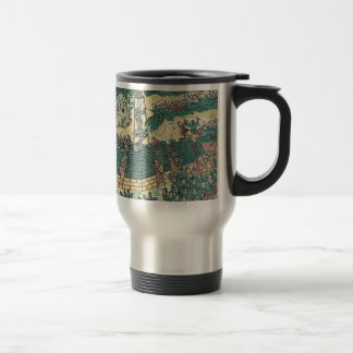 Battle scene soldiers storming a fort coffee mug