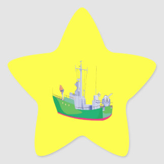 Battle Ship Star Sticker