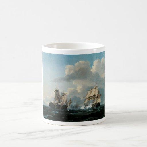 Battle Ships Fine Art Mug