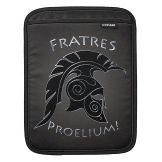 Battle Spartan Trojan Warrior Black Ipad Sleeve