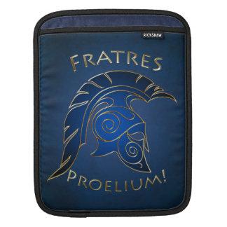 Battle Spartan Trojan Warrior Blue Ipad Sleeve