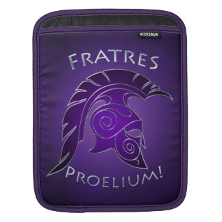 Battle Spartan Trojan Warrior Purple Ipad Sleeve