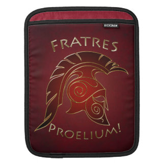 Battle Spartan Trojan Warrior Red Ipad Sleeve