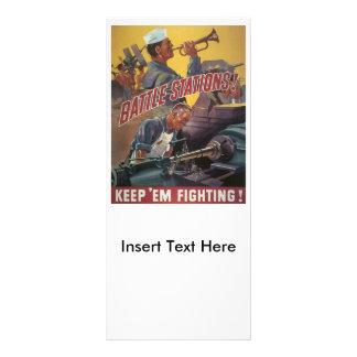 Battle Stations World War 2 Rack Card Design
