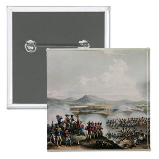 Battle Talavera, engraved by Thomas Sutherland Pinback Buttons