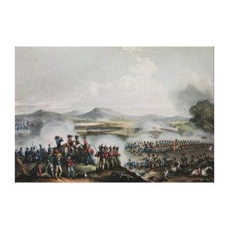 Battle Talavera, engraved by Thomas Sutherland Canvas Print