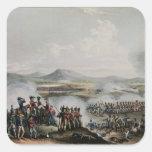 Battle Talavera, engraved by Thomas Sutherland Square Sticker
