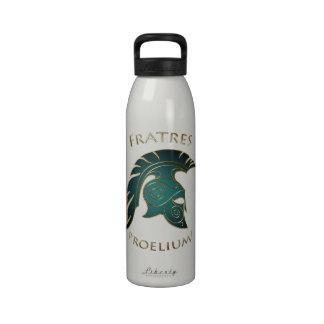 Battle Teal Spartan Warrior White Water Bottle