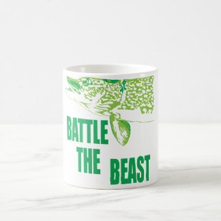 Battle the beast. coffee mug