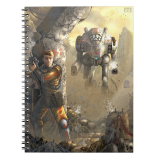 battle with the robot spiral notebook