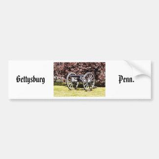 Battlefield Cannon Gettysburg PA Bumper Sticker