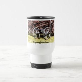 Battlefield Cannon Gettysburg PA 15 Oz Stainless Steel Travel Mug