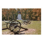 Battlefield Cannons at Gettysburg PA Poster