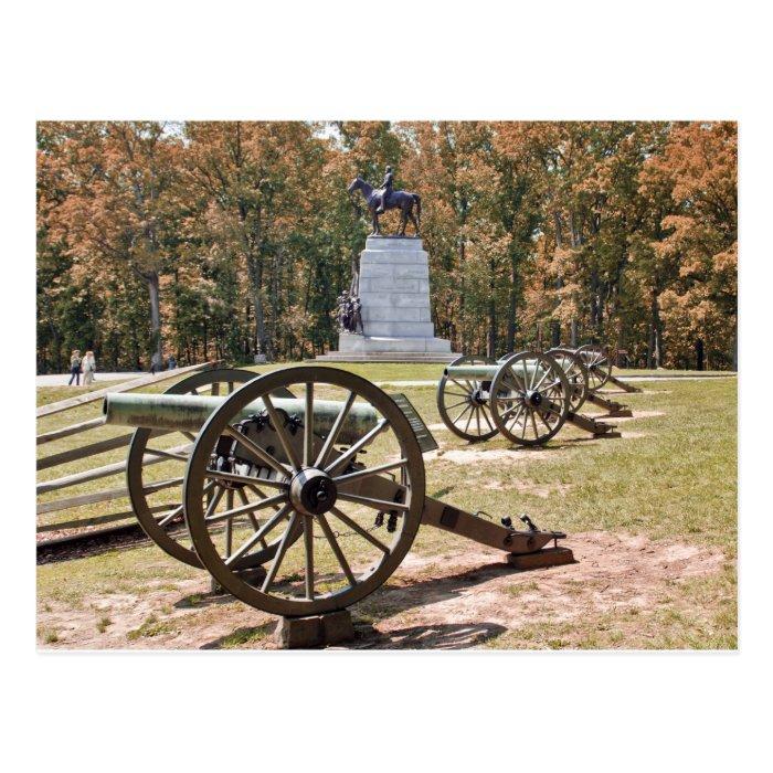 Battlefield Cannons Gettysburg PA Postcard