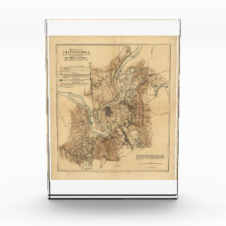 Battlefield of Chattanooga Map November 23-25 1863 Acrylic Award