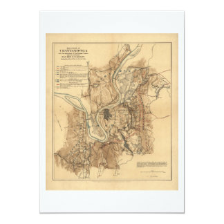 Battlefield of Chattanooga Map November 23-25 1863 Card