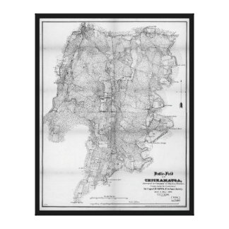 Battlefield of Chickamauga Map Sept 19-20 1863 Canvas Print