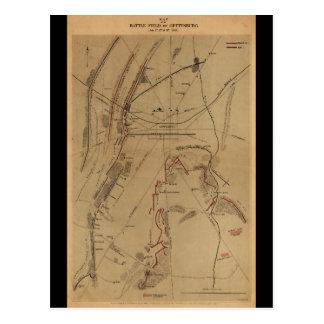Battlefield of Gettysburg July 1st 2nd 3rd 1863 Postcard