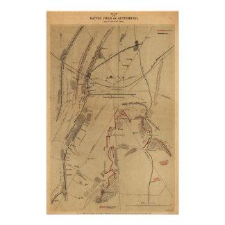 Battlefield of Gettysburg July 1st 2nd 3rd 1863 Stationery