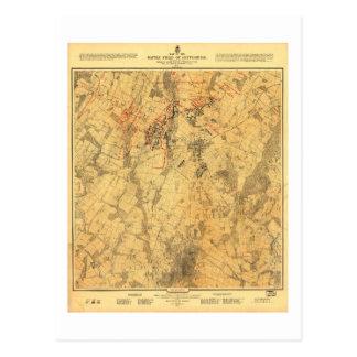 Battlefield of Gettysburg Map by John Bachelder Postcard