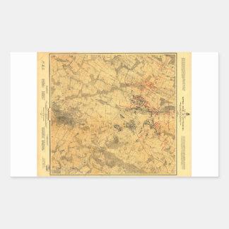 Battlefield of Gettysburg Map by John Bachelder Rectangular Sticker