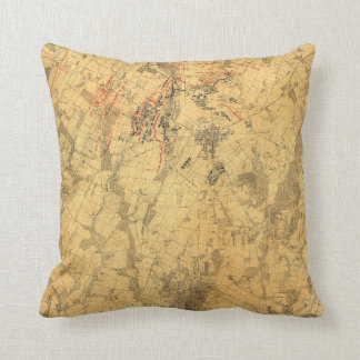 Battlefield of Gettysburg Map by John Bachelder Throw Pillow