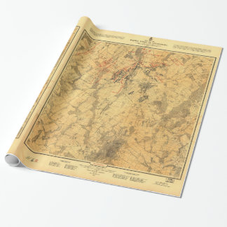 Battlefield of Gettysburg Map by John Bachelder Wrapping Paper