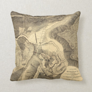 Battlefield of Waynesboro, Virginia March 2nd 1865 Throw Pillow