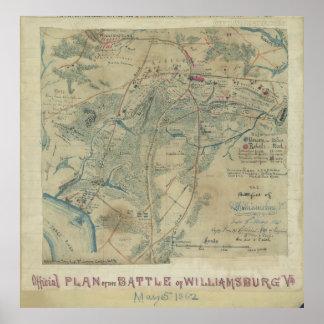 Battlefield of Williamsburg, Virginia Poster