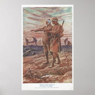 Battlefield War Friendship Leading Blind Soldier Poster