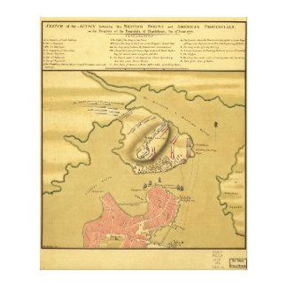 Battleground of Battle of Bunker Hill Map 1775 Canvas Print