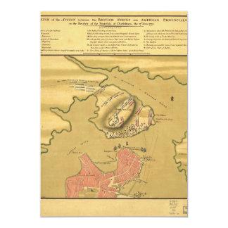 Battleground of Battle of Bunker Hill Map 1775 Card