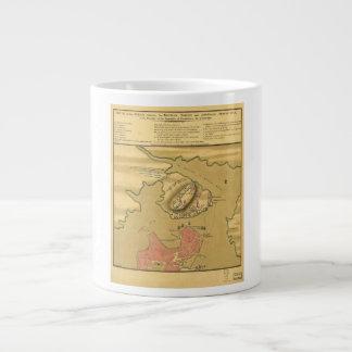 Battleground of Battle of Bunker Hill Map 1775 Large Coffee Mug