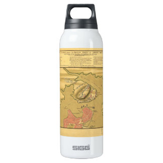 Battleground of Battle of Bunker Hill Map 1775 SIGG Thermo 0.5L Insulated Bottle
