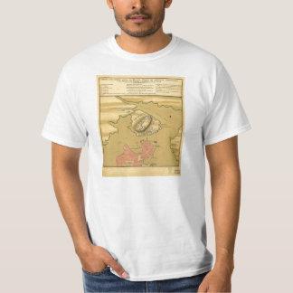 Battleground of Battle of Bunker Hill Map 1775 T-Shirt
